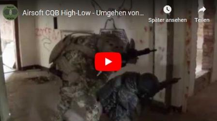 High-Low - Dynamisches Umgehen von Gebäudeecken im CQB  | 2 Mann | Oktober 2018